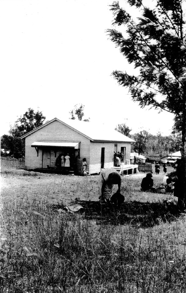The Ration Shed at Barambah Aboriginal Settlement c1928