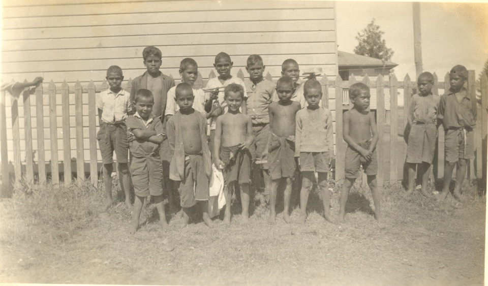 Dormitory boys at Cherbourg Aboriginal Settlement c1930