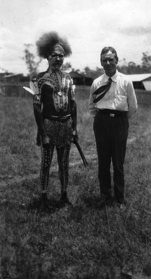 Porteus Semple and decorated man at Cherbourg c1930