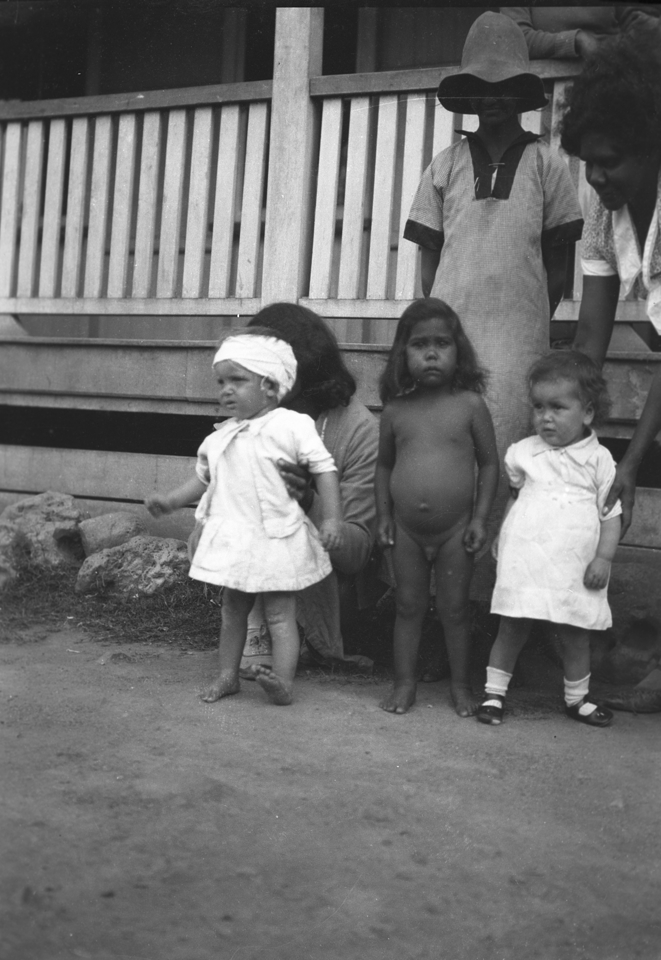 Babies and women at Girls Dormitory at Cherbourg 1934