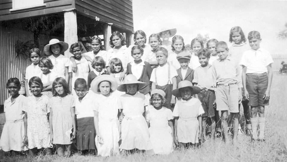 Children at AIM Church at Cherbourg c1950