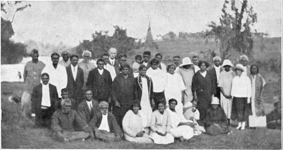 Group at Cherbourg Aboriginal Settlement c1930