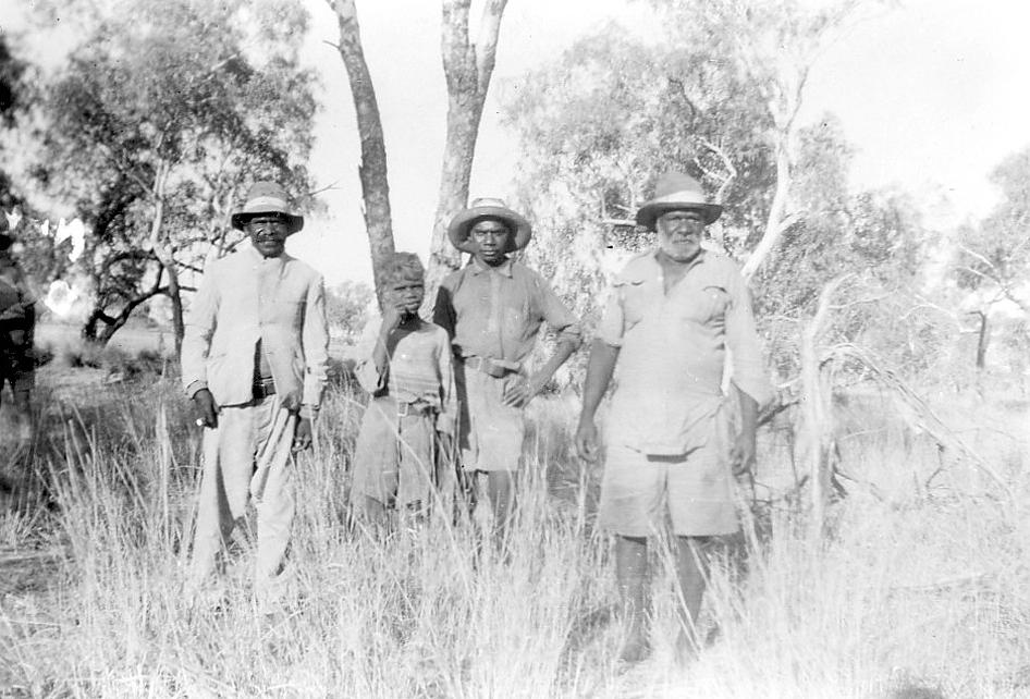 Men in the bush at Cherbourg c1950