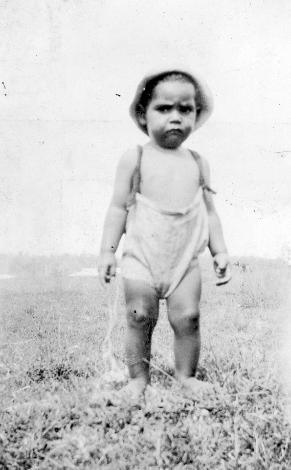 Toddler at Cherbourg Aboriginal Settlement c1930
