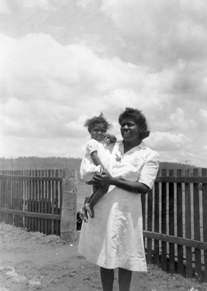 Woman and child at Cherbourg c1950