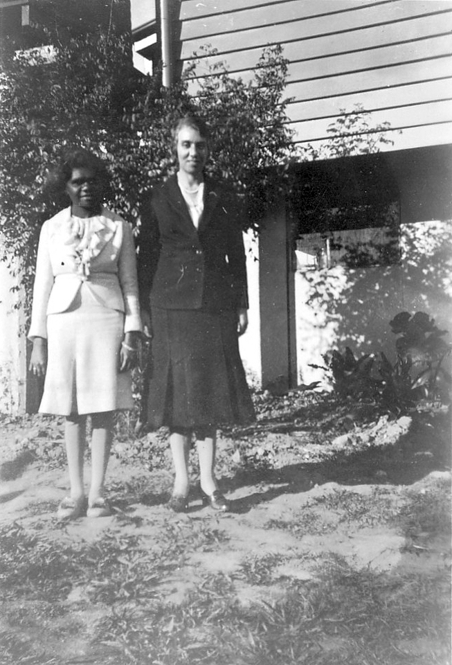 Woman and Miss Shankleton at Cherbourg c1950