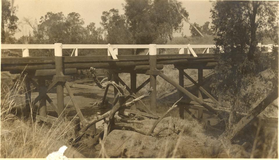 Bridge across Barambah Creek at Cherbourg c1935