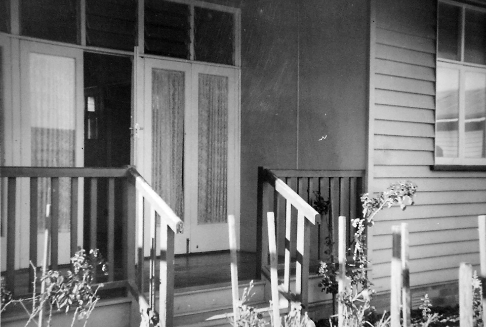 Entrance to nurses quarters at Cherbourg Hospital c1961