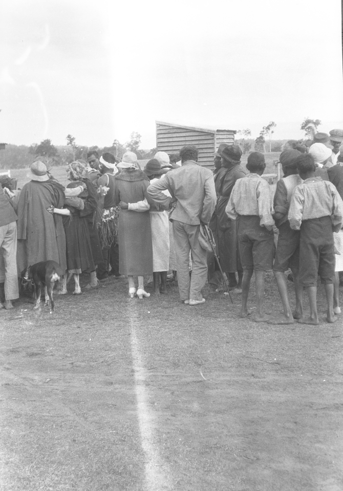 Group at funeral procession at Cherbourg 1934
