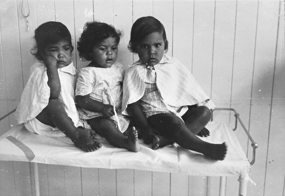 Maudie Morgan, Doreen Fisher and Bonnie Simpson at Cherbourg Hospital c1961