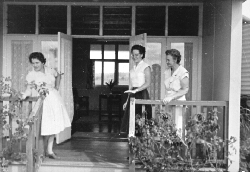 Nurses at the Nurses Quarters at Cherbourg Hospital c1961