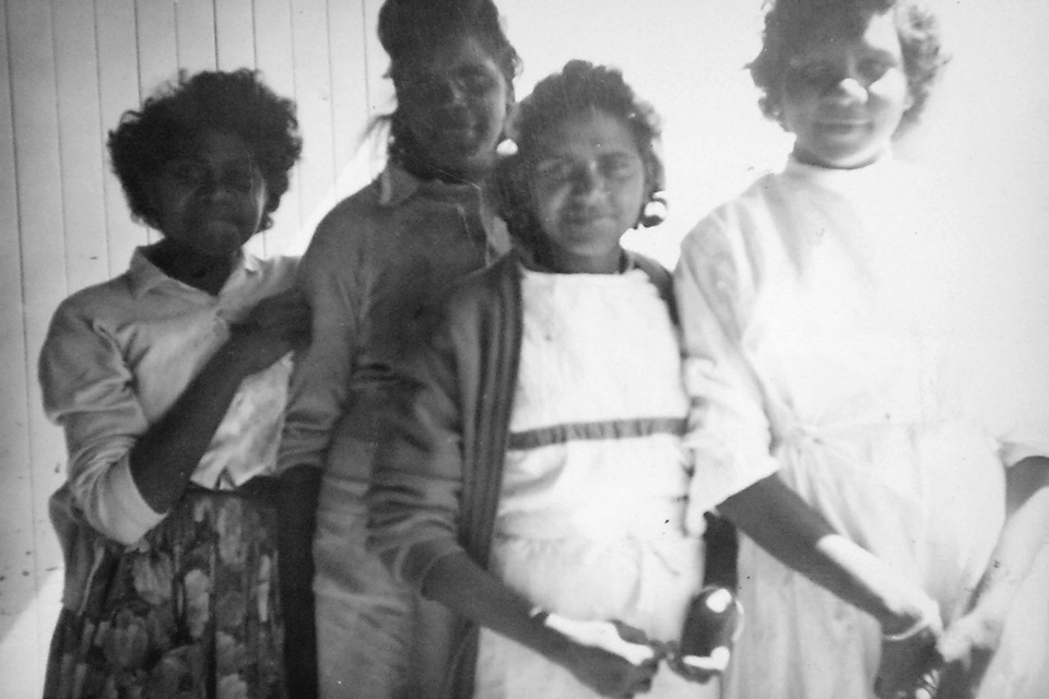 Liley Jerome, Mary Aubrey,  Racheal Fogarty and Rose Micklo at Cherbourg Hospital c1961