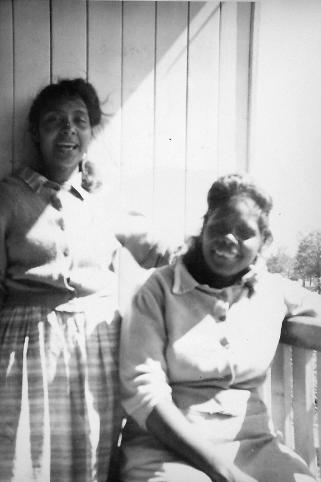 Ruby Purcell and Mary Aubrey at Cherbourg Hospital c1961