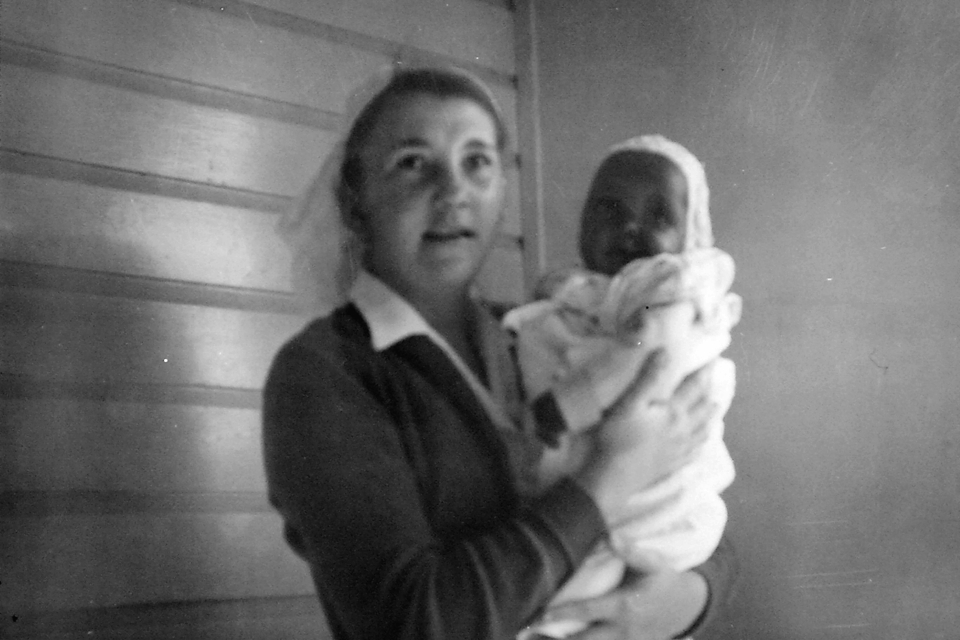 Nurse Sonja Larsen and Cepha Roma at Cherbourg Hospital c1961