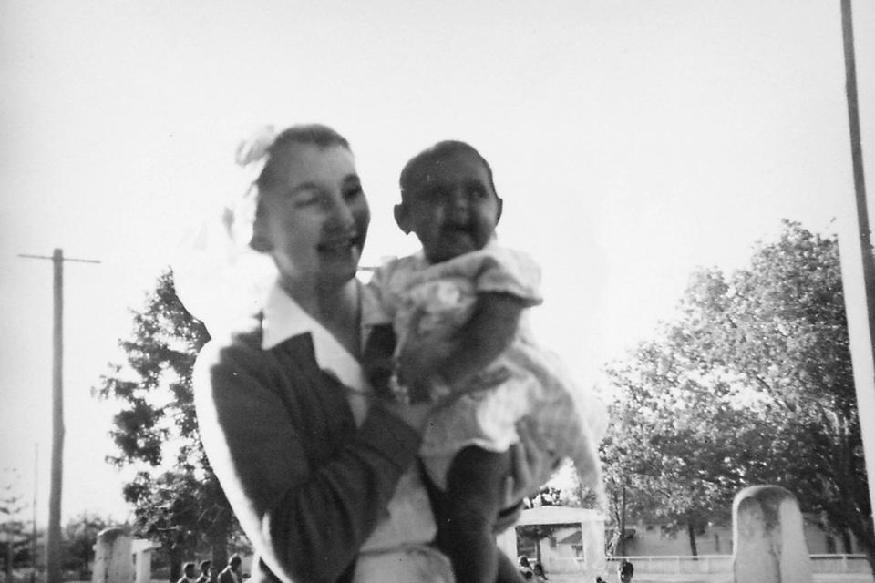 Nurse Sonja Larsen and Maria Bond at Cherbourg Hospital c1961