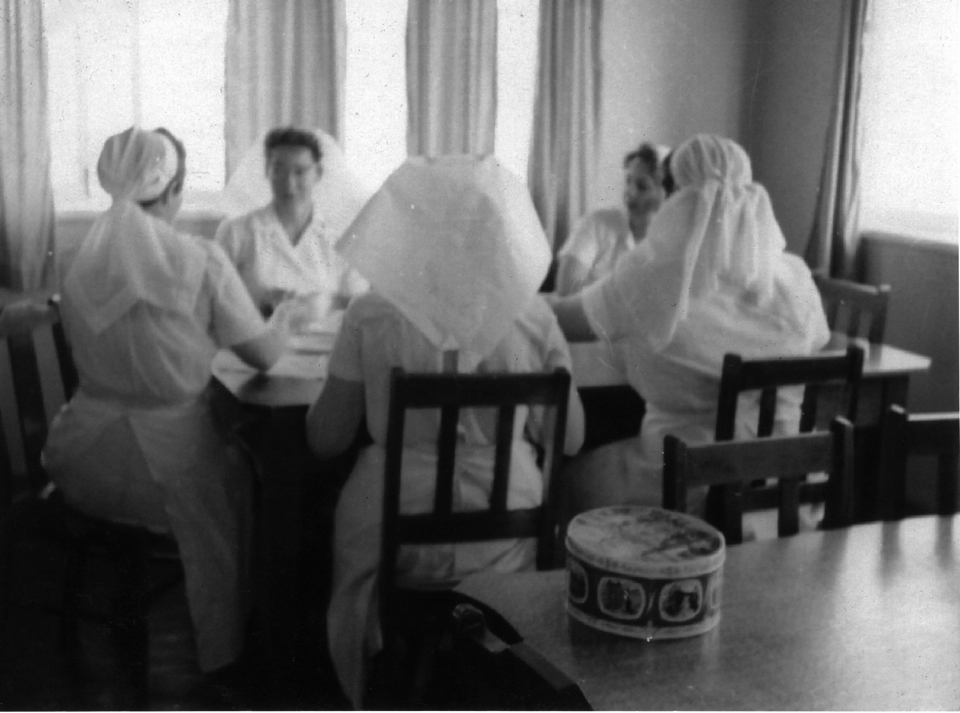 Dining room in the Nurses Quarters at Cherbourg c1961