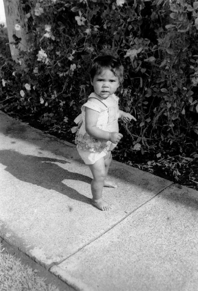 Toddler at Cherbourg Hospital c1961