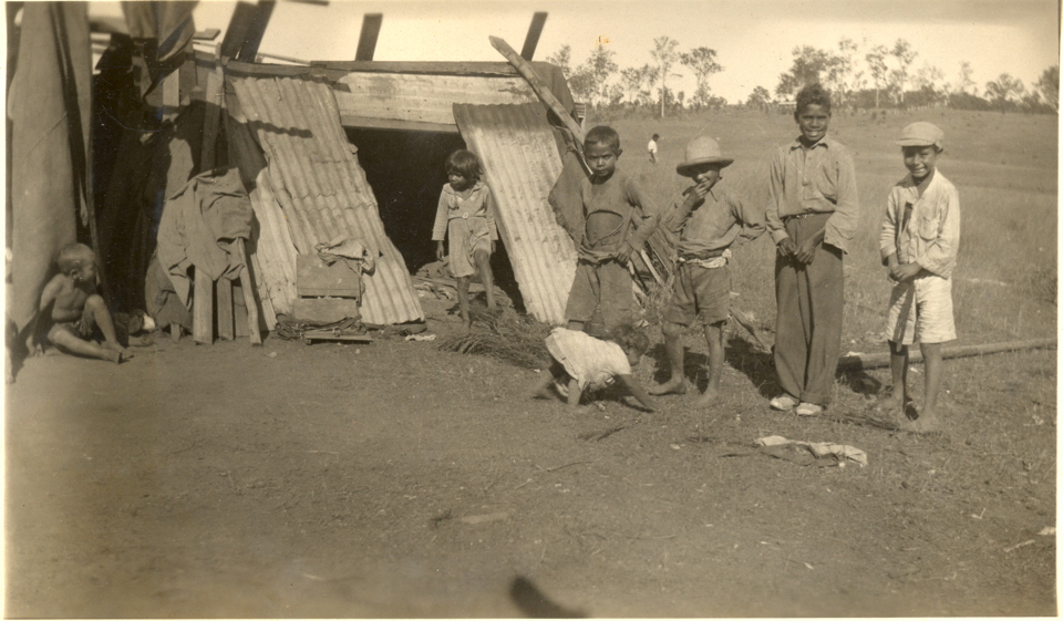 Children in the camp at Cherbourg c1935