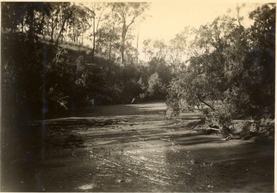 View of Barambah Creek at Cherbourg c1935