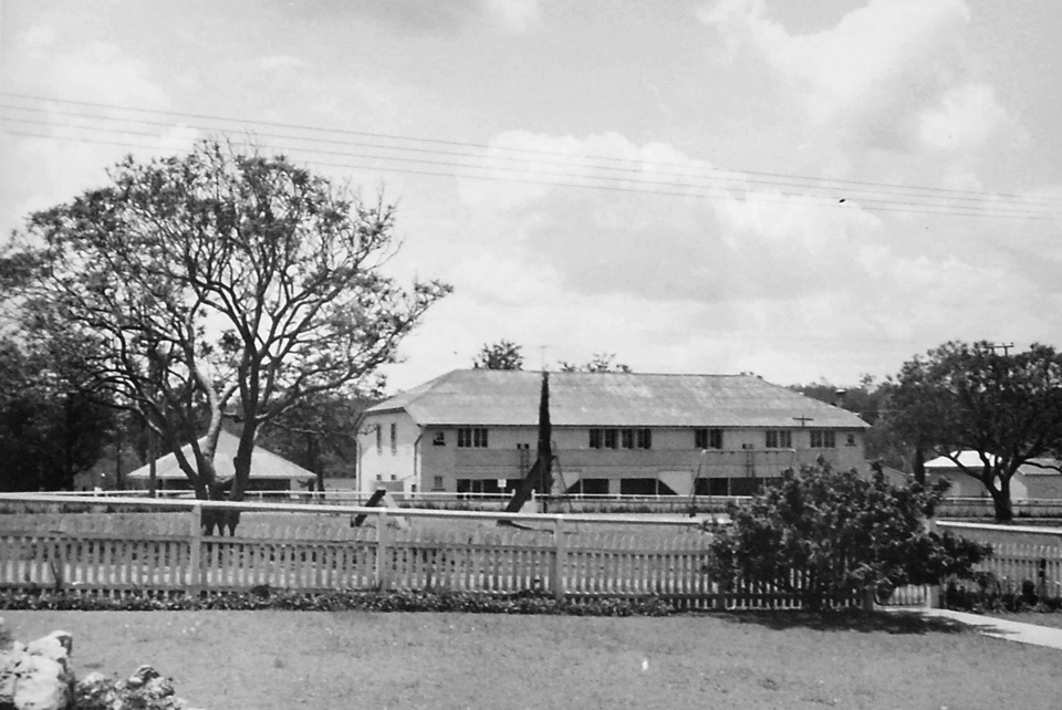 View of Girls Dormitory from Cherbourg Hospital c1961