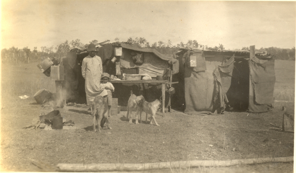 Woman and child in the camp at Cherbourg c1935