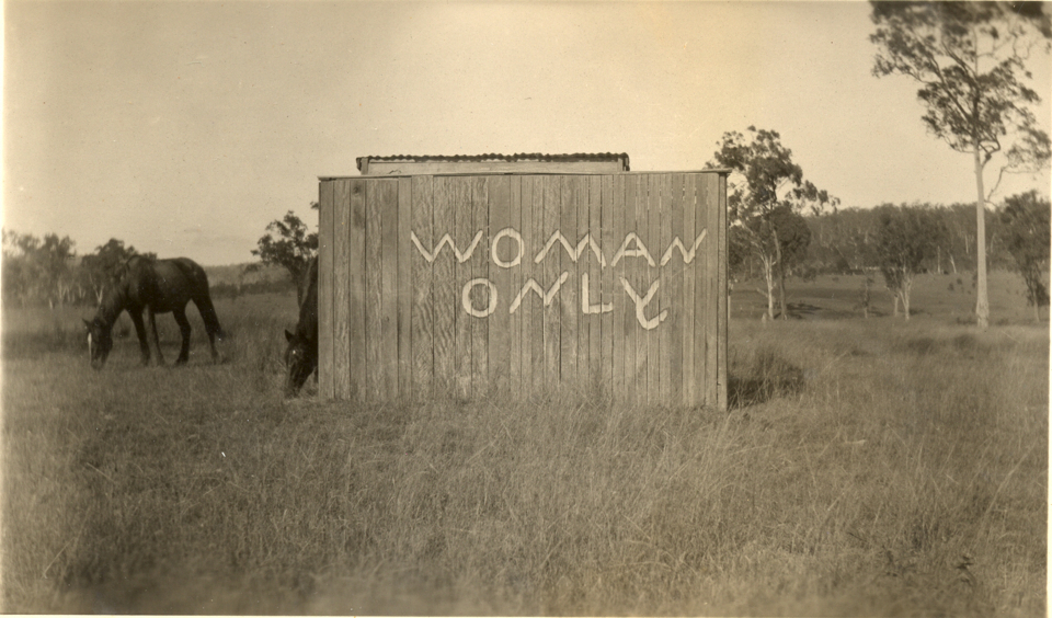 Womens toilets at Cherbourg c1935