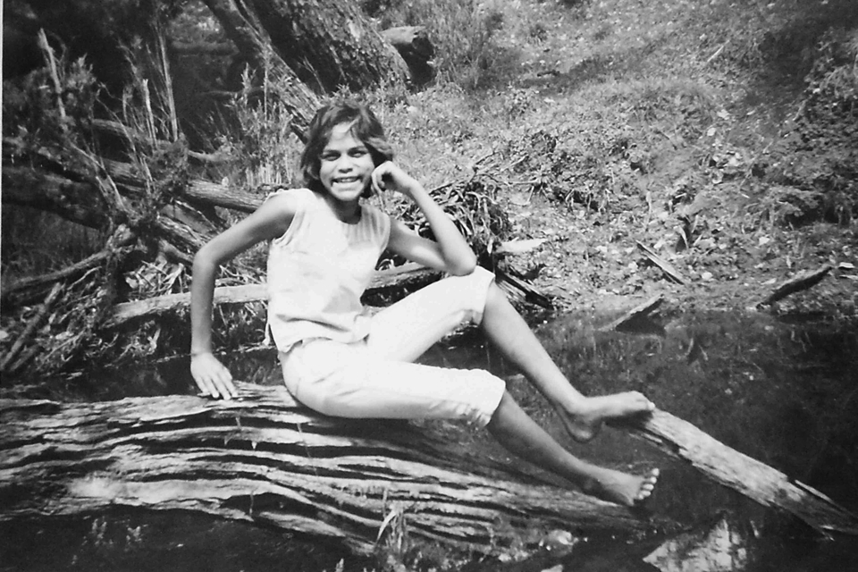 Young woman at Barambah Creek at Cherbourg c1961