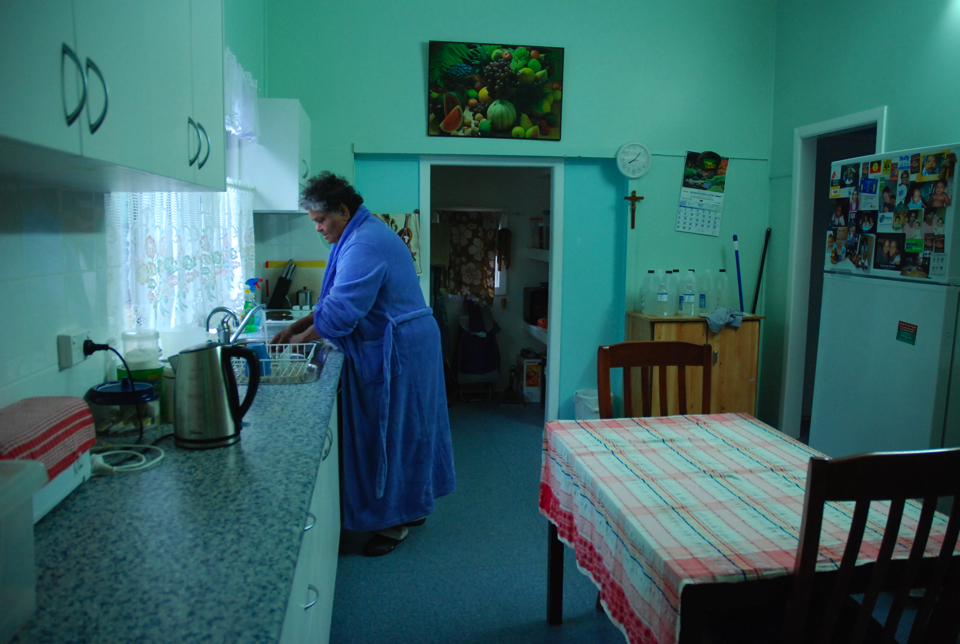 Daisy Alberts in her kitchen 2012