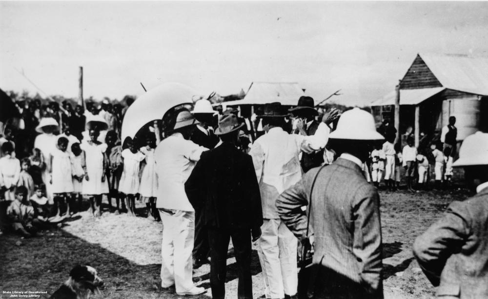 Governor Sir William McGreggor at Barambah Aboriginal Settlement 1911