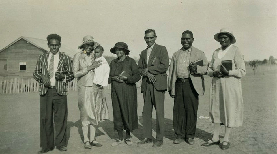 AIM church group at Barambah Aboriginal Settlement c1930