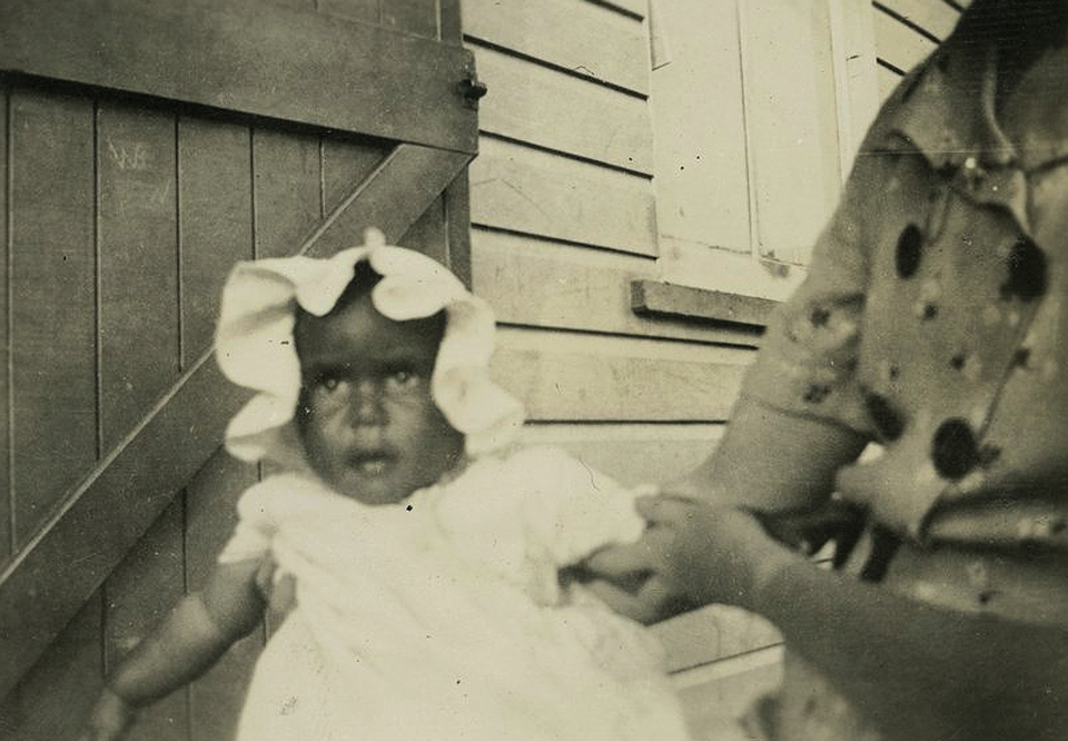 Baby at Cherbourg Aboriginal Settlement c1930