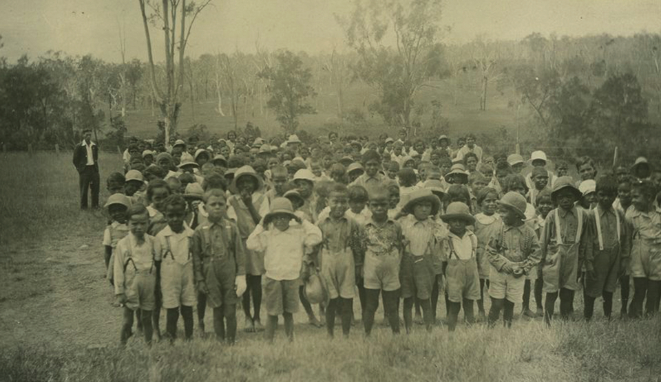 Children at Cherbourg Aboriginal Settlement c1933