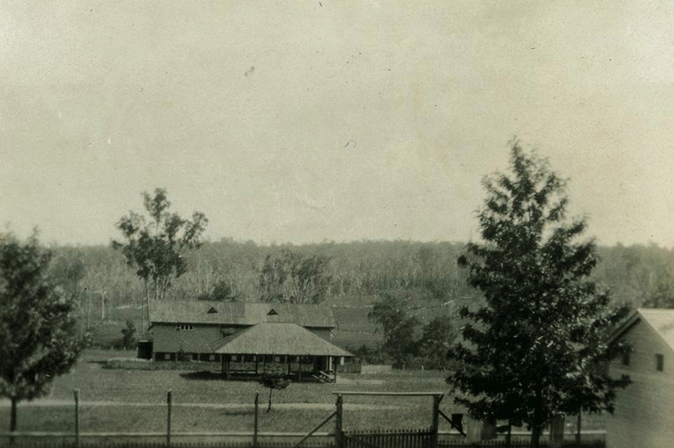 Cherbourg Settlement School and shelter c1937