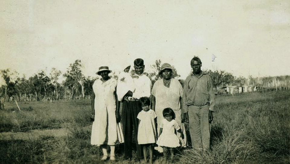 Family at Cherbourg Aboriginal Settlement c1933