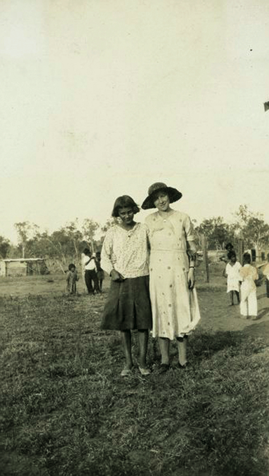 Girl and woman at Cherbourg Aboriginal Settlement c1930