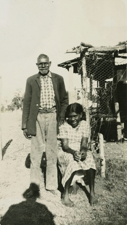 Man and girl at Barambah Aboriginal Settlement c1930