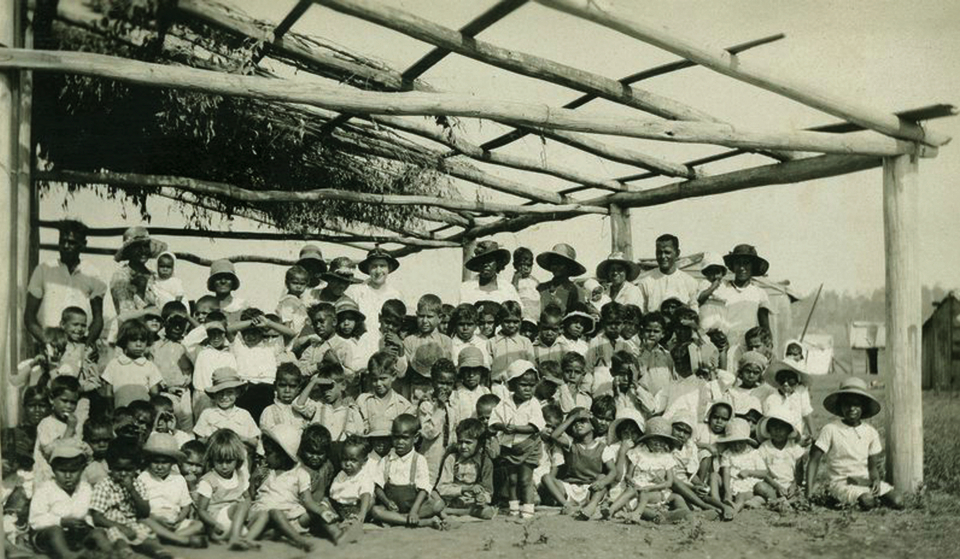 Sunday school group at Barambah Aboriginal Settlement c1929