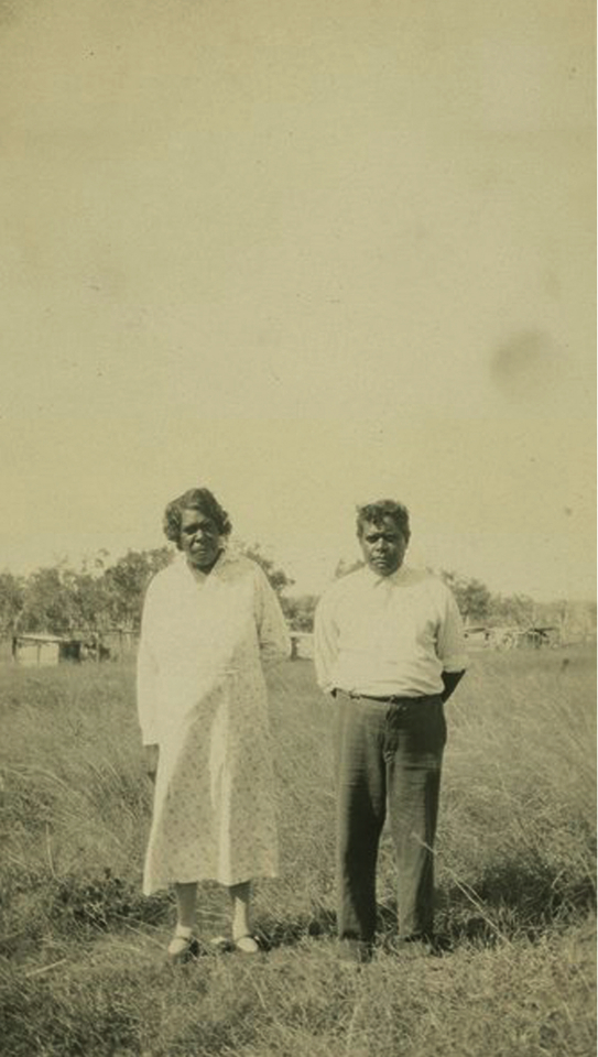 Couple at Cherbourg Aboriginal Settlement c1933