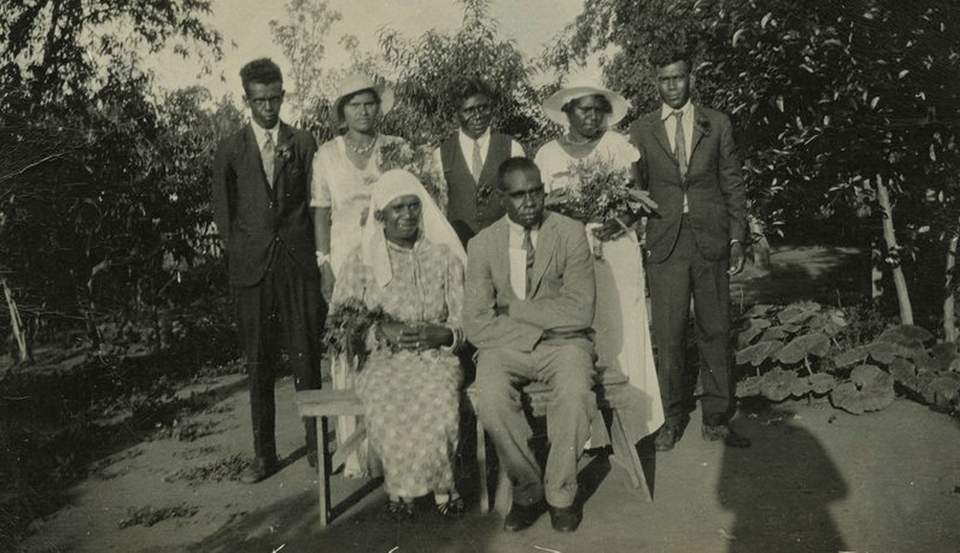 Wedding party at Barambah Aboriginal Settlement c1930