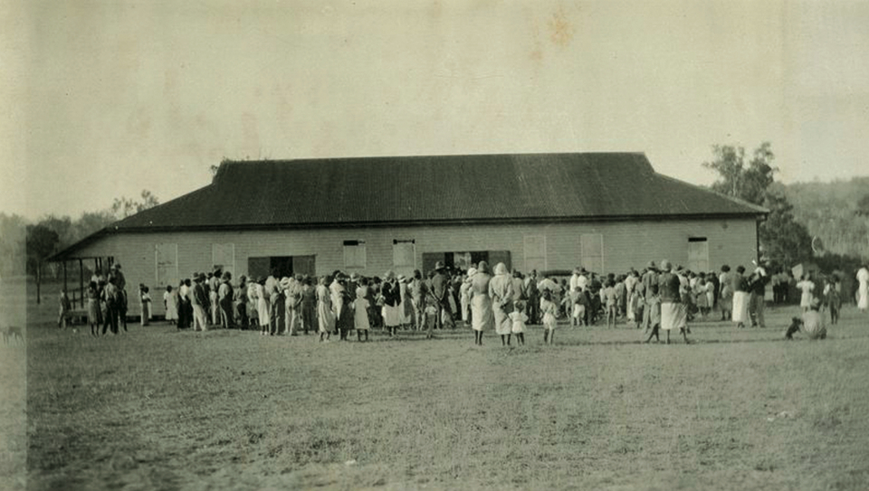 Welfare Hall at Cherbourg Aboriginal Settlement c1933