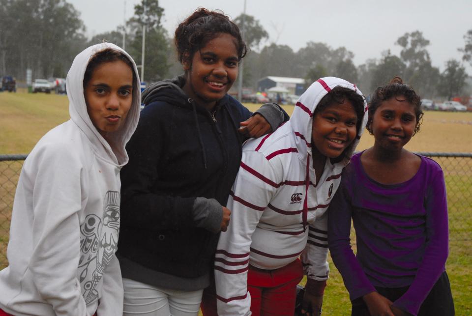 Girls at the football in Nanango 2012