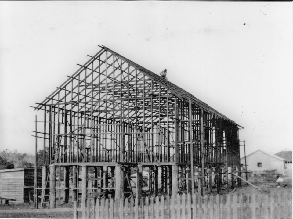 AIM Church under construction at Cherbourg 1938