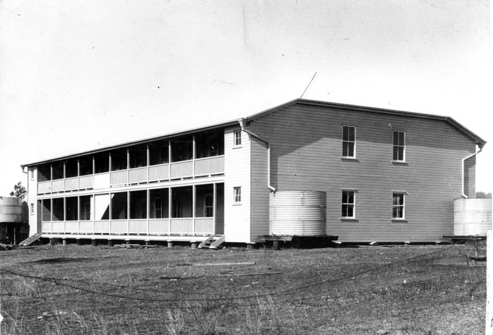 Back view of the Girls Dormitory at Barambah Aboriginal Settlement 1925