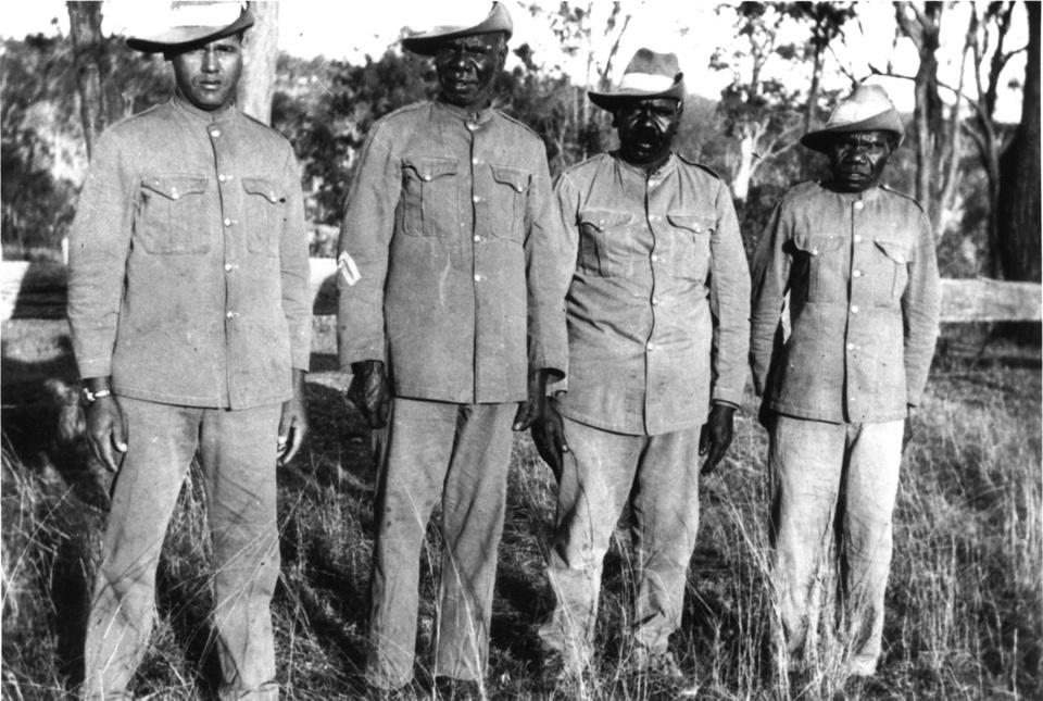 Barambah Settlement Aboriginal Policemen c1920