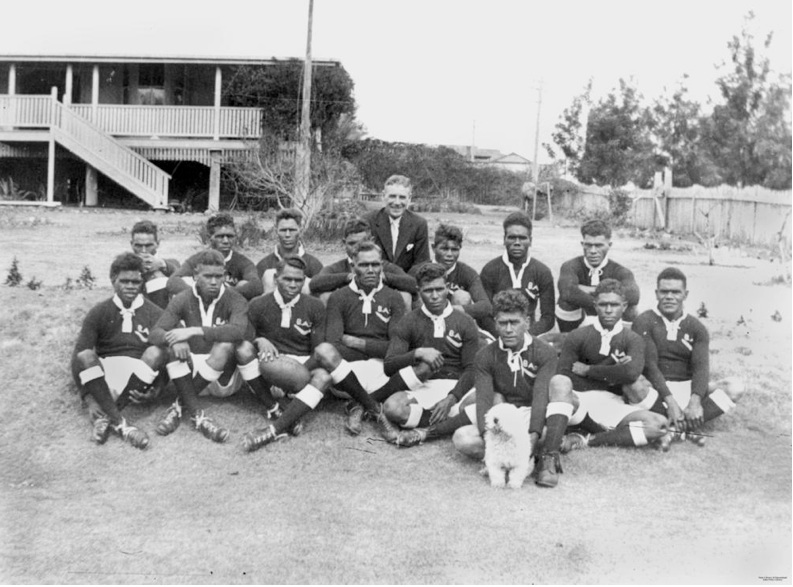 Barambah Aboriginal Settlement rugby league team c1930