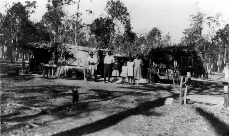 Bush Camp at Cherbourg Aboriginal Settlement 1935