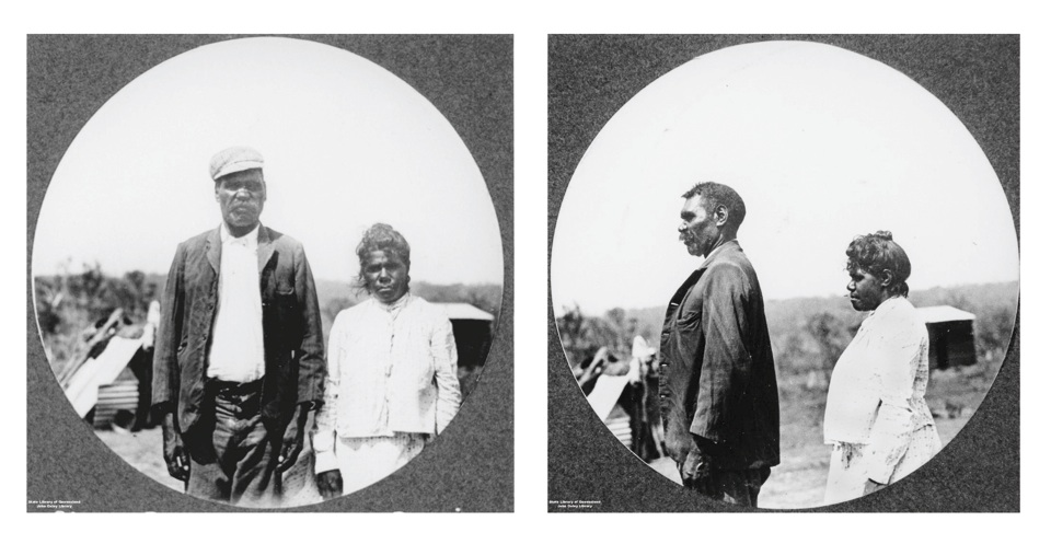 Chas Beatte and Lena Davis at Barambah Aboriginal Settlement 1911