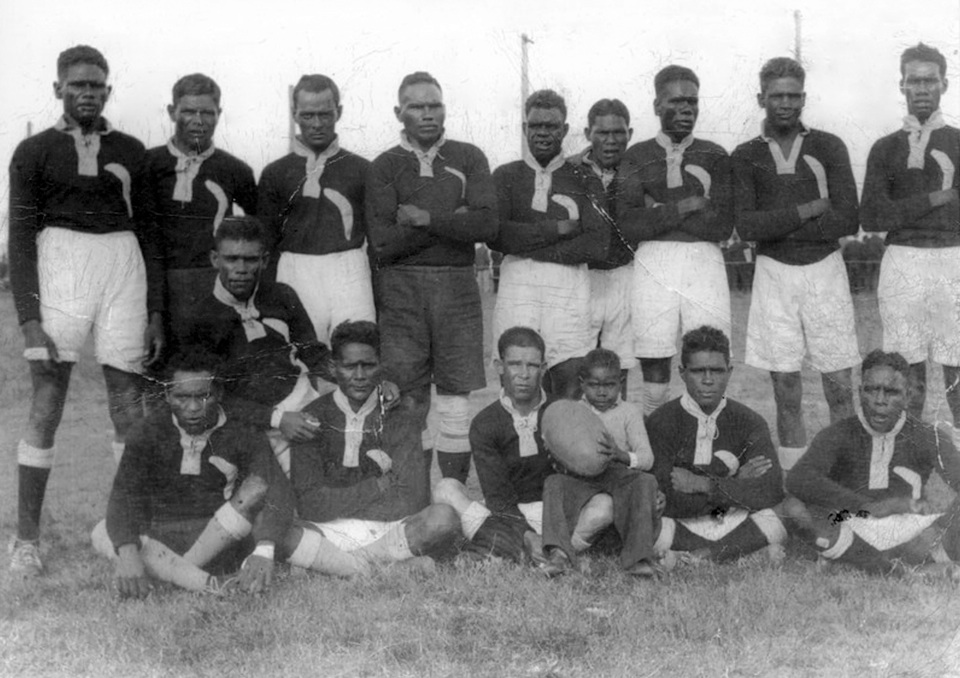 Cherbourg Magpies Rugby League Team 1935
