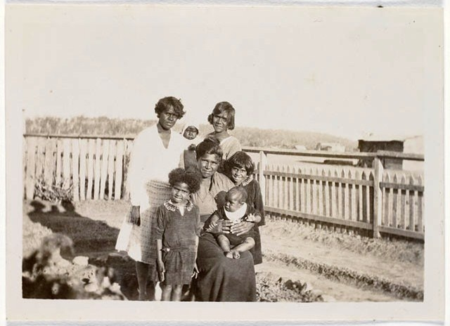 Crowe family group at Cherbourg c1940