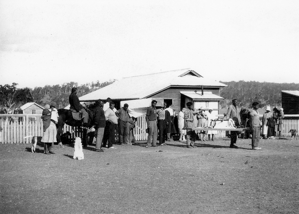 Double Funeral at Barambah Aboriginal Settlement c1928
